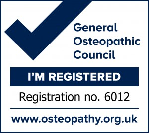 General Osteopathic Council registration mark.